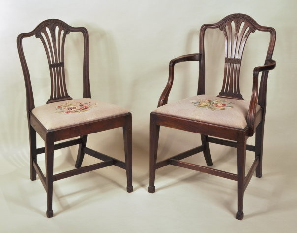 Beautiful Set 10 Georgian Style Dining Chairs   Inv. #10367
