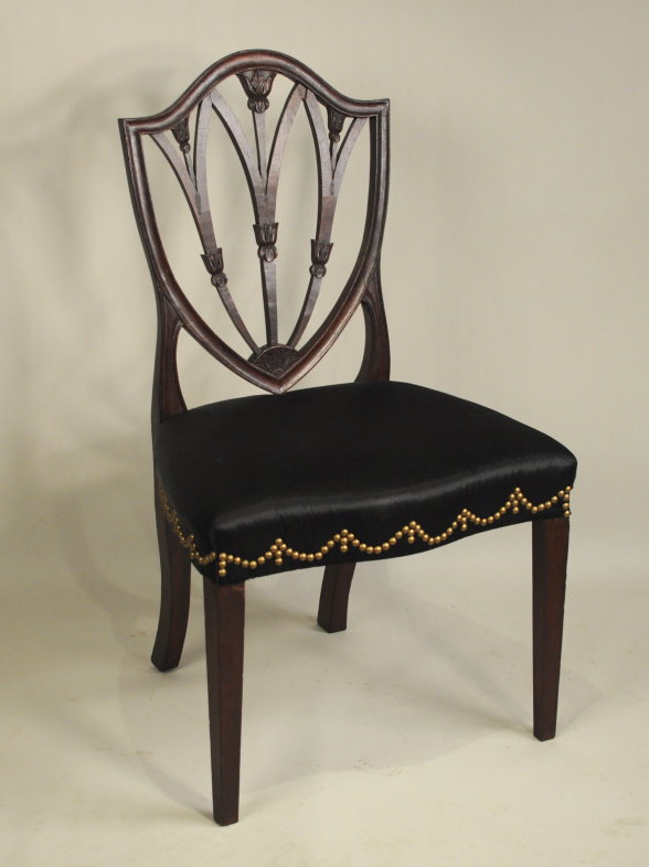 Set Of 4 Inlaid Hepplewhite Style Dining Chairs Additionally Furniture