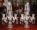 Crystal Lustre Candleabra Group - Inv. #10149