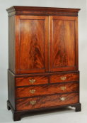 George III Mahogany Linen Press - Inv. #10363