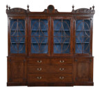 Regency Carved Mahogany Breakfront - Inv. #10638