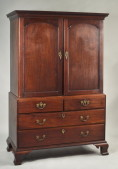 Georgian Mahogany Linen Press - Inv. #10639