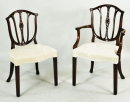 Set 10 Hepplewhite Style Dining Chairs - Inv. #10643