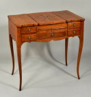 Ladies Inlaid Cherrywood Dressing Table - Inv. #10683