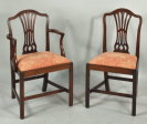 Set Eight George III Mahogany Dining Chairs - Inv. #10690