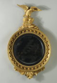 Classical Carved & Gilded Convex Mirror - Inv. #10715