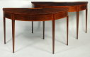 Pair George III Inlaid Mahogany Console Tables - Inv. #10777