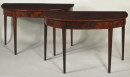 Pair Hepplewhite Inlaid Mahogany Console Tables - Inv. #7887