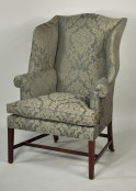 Hepplewhite Inlaid Mahogany Wing Chair - Inv. #9526