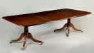 Regency Two Pedestal Mahogany Dining Table - Inv. #9573