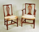 Set 12 Chippendale Style Mahogany Dining Chairs - Inv. #9658