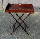 Regency Mahogany Butler Tray on Stand - Inv. #9929